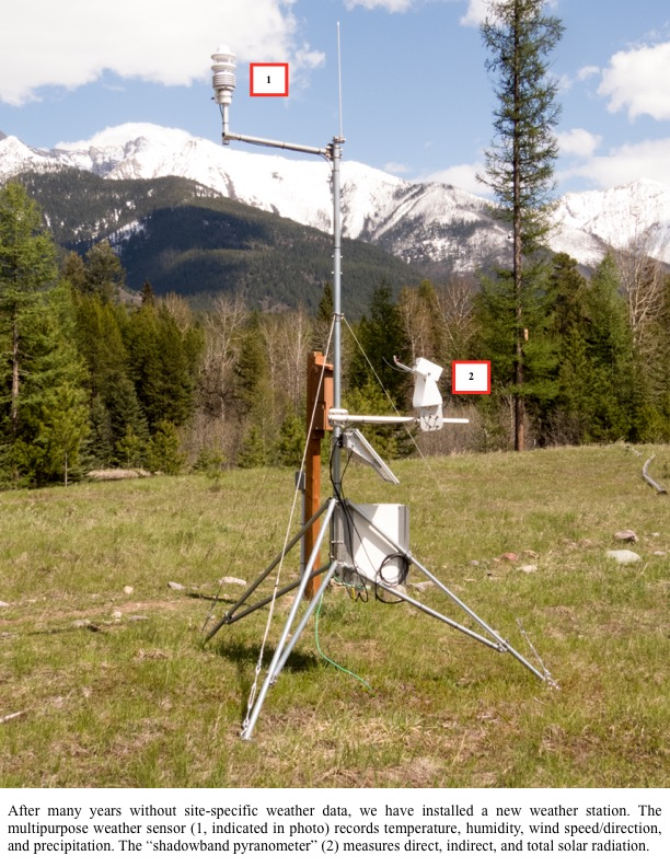 After many years without site-specific weather data, we have installed a new weather station.